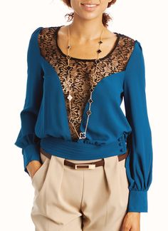 lace inset blouse $32.20