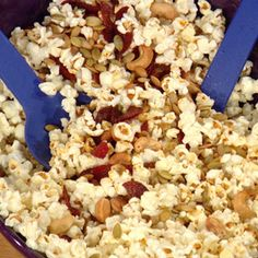 Buttered, Cool Ranch and Pepperoni Popcorn from Rachel Ray.  Yum!