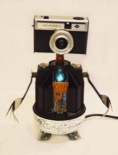 Robot night light robot sculpture mr by CaptainHeartless on Etsy