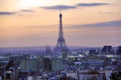 PARIS - Eiffel Tower seen from Centre Georges Pompidou - http://fuievouvoltar.com
