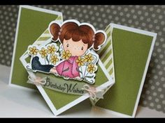 Tutorial on how to do the diamond fold card. For a list of supplies used to create this finished card in this video visit