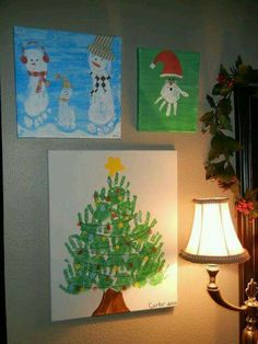 Kids handprint/footprint Christmas crafts