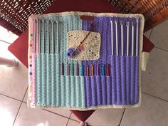 Crochet Needles, All In One, Pouch, Home Appliances, Fan, Handmade, House Appliances, Hand Made, Sachets