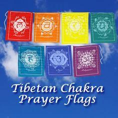 Tibetan Chakra Prayer Flags http://soul2soultreasures.com/decor.htm