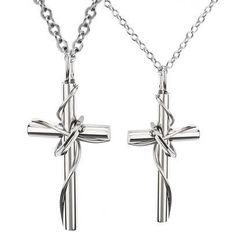 Fashion 316l Stainless Steel Lingering Love Cross ($21.99)
