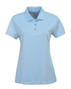 Tri-Mountain Women's Moisture Wicking Pique Polo Shirt, ANGEL BLUE, XX-Large Tri-Mountain. $29.99