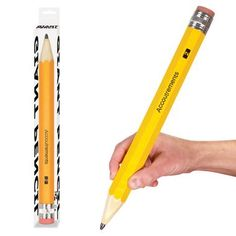 Straight from the land of giants... It's our Giant Pencil!   The greatest feature is that it's a real pencil!   And in that capacity, it functions in all the great ways that a real pencil does.   The lead writes, the eraser erases and it's perfect for making your desk look tiny or for doing huge crossword puzzles!