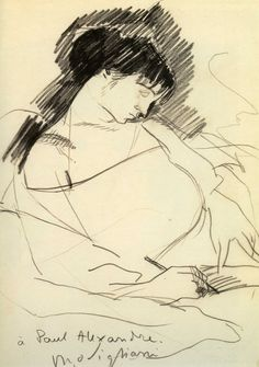 """Amedeo Modigliani, Maud Abrantes Writing in Bed. Pencil, 12 x 7 """". Amedeo Modigliani, Modigliani Portraits, Daily Drawing, Life Drawing, Figure Drawing, Drawing Sketches, Italian Painters, Italian Artist, Matisse"""