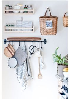 A chic way to keep your kitchen organized!