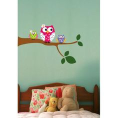 VIINILOS DECORATIVOS,ARBOL, BUHOS, RAMA, HABITACION DECORACION INFANTIL, WALL STICKER DECOR
