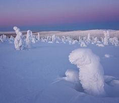 Arctic Circle transformed into a ghostly world