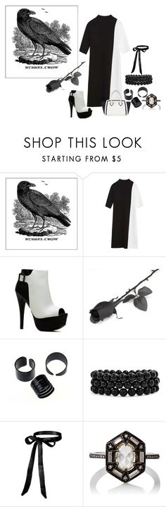 """Crazy About Crows contest"" by freida-adams ❤ liked on Polyvore featuring Bling Jewelry, Cathy Waterman and Furla"
