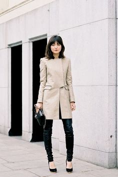 That structured coat >> ICONIA Street Style Blog » New York