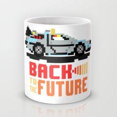 Back to the Future: Delorean Mug by Alba Saldaña | Society6