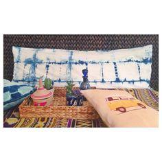Shibori Bohemian Bedding Indigo: FOLK Body Pillow Cover (Indigo Only)