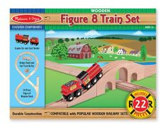 Melissa & Doug Classic Wooden Figure Eight Train Set, 2015 Amazon Top Rated Accessories #Toy