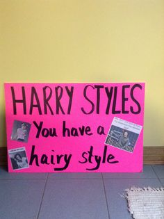 The poster that I made for the One Direction concert that was on Sept. 28,2014 My mom helped me with it
