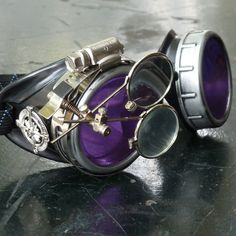 Victorian Steampunk goggles aviator by UmbrellaLaboratory on Etsy, $19.99