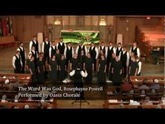 Oasis Chorale performing The Word Was God by Rosephanye Powell. This was the first song from the concert at The Church of the Good Samaritan in Paoli, PA, July 30, 2011. , Directed by Wendell Nisly.