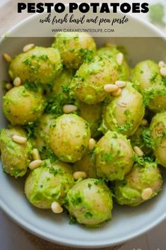 These pesto potatoes make for a hearty and flavorful side dish which packs in a ton of flavor from the pesto dressing. Make the on the stove top or Instant Pot. #instantpotpotatoes #potato #pesto Low Calorie Vegetarian Recipes, Lunch Recipes, Salad Recipes, Party Recipes, Sweets Recipes, Vegan Recipes, Easy Summer Meals, Summer Recipes, Easy Meals