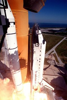 October 29, 1998: Space Shuttle Discovery lifts off from Launch Pad 39B on mission STS-95. | Photo credit: NASA