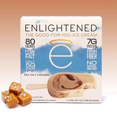 Can't decide between sweet or salty?   Have no fear sea salt caramel is here to satisfy both of your conflicting cravings!   Indulge in one of our delicious ENLIGHTENED ice cream bars on this wonderful Sundae Funday!   Dress it up with some nut butters graham cracker crumbs or any other topping and snap a photo! Tag @eatenlightened so we can check out your ice cream sundae creations!