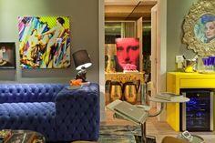 Apartamento de solteiro colorido (Foto: Leandro Farchi/Divulgação)