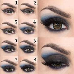 (paid link) BEST. Hair Color For Brown Eyes. ever. Your perfect shade is just a few questions away. 1. Let's start past the end result. What see are you hoping to achieve? Hair Color For Brown Eyes. #haircolorforbrowneyes Creative Eye Makeup, Eye Makeup Art, Sexy Makeup, Dark Makeup, Smokey Eye Makeup, Makeup Eyeshadow, Eyeliner, Vampire Makeup Tutorial, Costume Makeup Tutorial