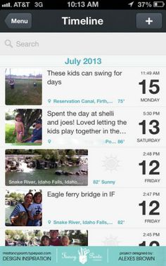 Day One App and others for scrapbooking...