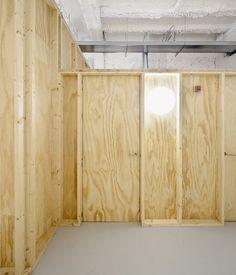 a f a s i a: dataAE Halle, Yoga Studio Design, Plywood Walls, Office Interiors, House Design, Interior Design, Architecture, Room, Furniture