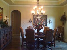 ME Interiors Old World Dinning Design