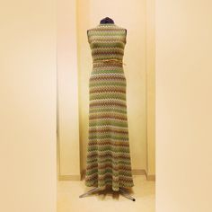 "Платье в пол из трикотажа ""Missoni"""