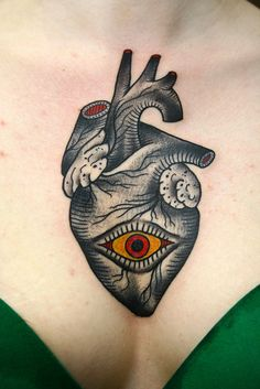 Dane Mancini Inkamatic trieste tattoo traditional anatomical heart eye | Flickr - Photo Sharing!