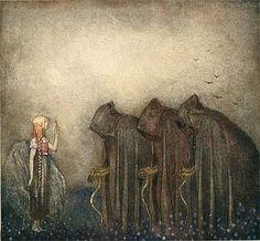 John Bauer's Bland Tomtar Och Troll John Bauer, Celtic Mythology, Celtic Goddess, Goddess Art, Golden Key, Fairytale Art, Gods And Goddesses, Ancient Goddesses, Fantasy Illustration