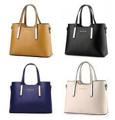 Ladies Women s Faux Leather Large Tote Shopper Handbags Designer Shoulder  Bag a1b60b61a51a1