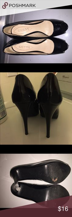 Guess high heels Guess black high heels size 6. Has a few chips in the front. Guess Shoes Heels