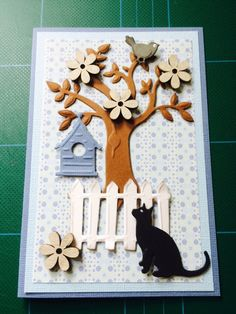 Dog Cards, Bird Cards, Spellbinders Cards, Stampin Up Cards, Marianne Design Cards, Cool Paper Crafts, Animal Cards, Fall Cards, Card Making Inspiration