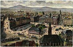 FRANKFURT . HAUPTWACHE UND SCHILLERPLATZ . Frankfurt Germany, Paris Skyline, Maine, Cities, War, Travel, Hessen, Remember This, City