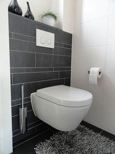 Afbeeldingsresultaat voor powder room with wall hung toilet Bathroom Layout, Bathroom Interior Design, Modern Bathroom, Small Bathroom, Small Toilet Room, Guest Toilet, Wall Hung Toilet, Downstairs Toilet, Bad Inspiration