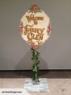 "Place this lovely ""Welcome to Fairy Glen"" sign at your party entrance!"