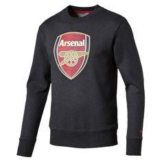 Don t mind the weather with this Puma Arsenal sweatshirt. Puma Arsenal Fan  Crest 6259f5703