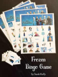 FREE Frozen Printable Bingo Game by KellyGeneLife Frozen Birthday Party | Kelly Gene