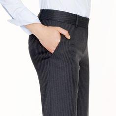 1035 trouser in pinstripe Super 120s wool : Straight | J.Crew
