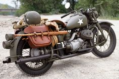 Military Indian Motorcycle WWII