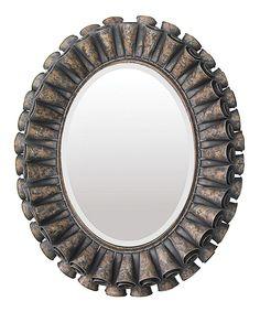 Love this Ruffled Oval Mirror by ELK on #zulily! #zulilyfinds