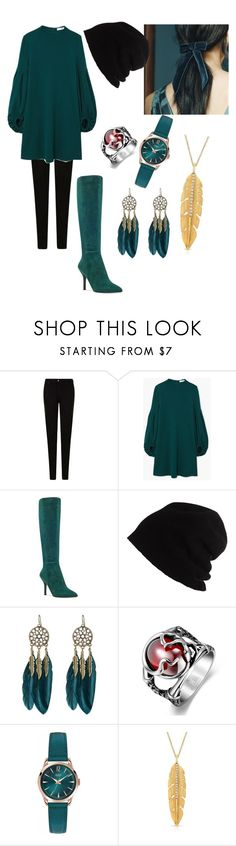 """isis"" by lucia-valle-sanchez on Polyvore featuring Emporio Armani, MANGO, Nine West, SCHA, WithChic and Henry London"