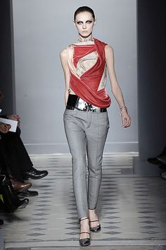 Fall 2008, Look 24 Glamorous Evening Gowns, Capsule Outfits, Grey Pants, Balenciaga, Short Tops, Nicolas Ghesquiere, Winter Fashion, Fall, Get Dressed