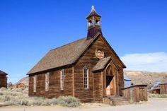 Beautiful Church Located In A Western Ghost Town