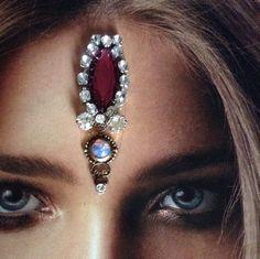 Glamorous Goddess Danae~Opal Crystal Bindi.. Tribal Fusion,Bellydance,Fairy Jewelry Bollywood,Wicca,Gypsy Costume Forehead Jewelryby VenusLoveJewels