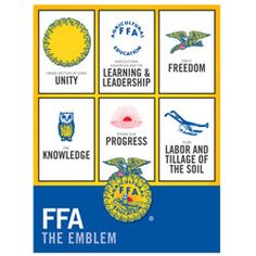 A breakdown of the FFA emblem. Agriculture education is a great leadership builder for ag!